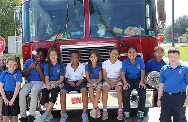Chalmette Elementary students learn about fire safety