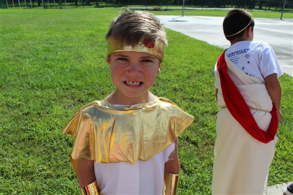 Second Grade Greek Day