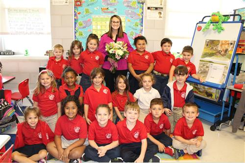 Congratulations to Teacher of the Year, Ms. Tiffany Romano!