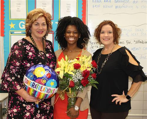 Ms. Chelsea Easterling announced Trist Teacher of the Year