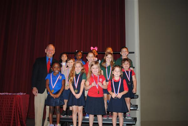 Parish Coroner Presents Student Awards