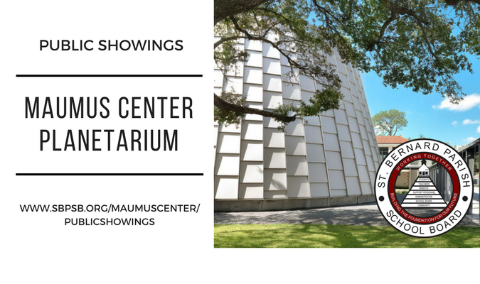 September Public Showings at the Maumus Center Planetarium